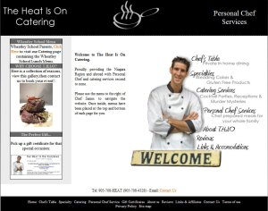 Niagara Catering and Personal Chef Services website