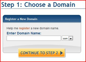 Host Gator Domain Selection