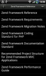 zend framework reference android app